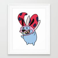 catbug Framed Art Prints featuring Catbug Courage by Ilse S