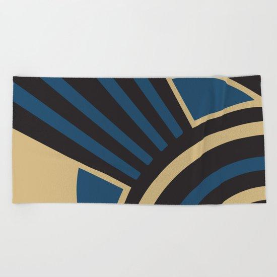 Art Deco Beautiful Life In Blue Beach Towel