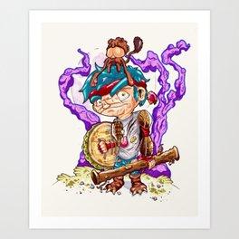 Jungle pirate. Art Print