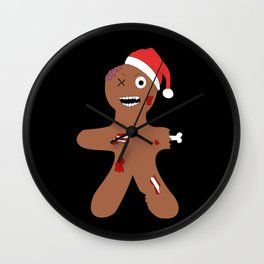 Zombie Gingerbread Christmas Wall Clock
