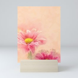 Sweety Pink #floral #digital #watercolor Mini Art Print