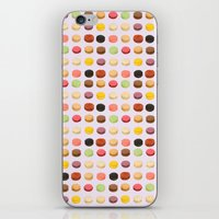 macaron iPhone & iPod Skins featuring Macaron Love by Electric Avenue