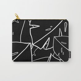 Black Monstera Leaf Carry-All Pouch