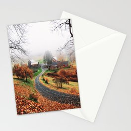 farm in vermont Stationery Cards
