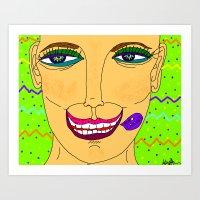 Artsyfartsy: Care.Face Art Print