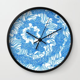 March's Blue 3  | Artline Drawing Pens Sketch Wall Clock