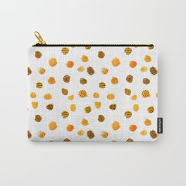 Minimal Abstract Dots Yellow Carry-All Pouch