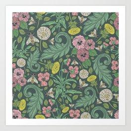 Victorian Garden 4 - Larger Pattern Art Print