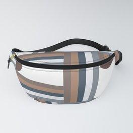 Stripes & Halfmoons Mid Century Modern Pattern Fanny Pack