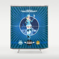 elsa Shower Curtains featuring Elsa by Spicy Monocle
