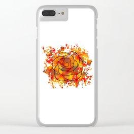 Autumn Rose Clear iPhone Case