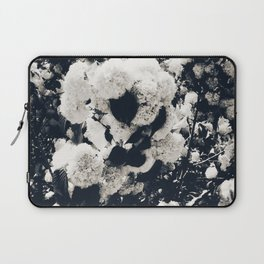 High Contrast Black and White Snowballs Laptop Sleeve