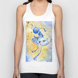 Cat. Inspired By Futurism Unisex Tank Top