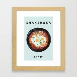 Shakshuka Poster  Framed Art Print