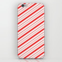 Candy Cane Stripes iPhone Skin