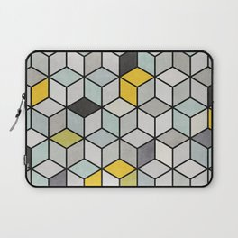 Colorful Concrete Cubes - Yellow, Blue, Grey Laptop Sleeve