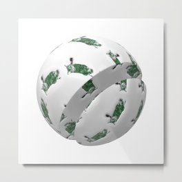 Nala On The Ball I Metal Print