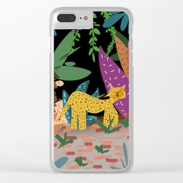 Tigre selvático Clear iPhone Case