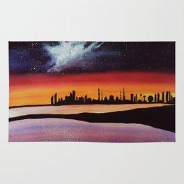 Abu Dhabi, watercolor Rug
