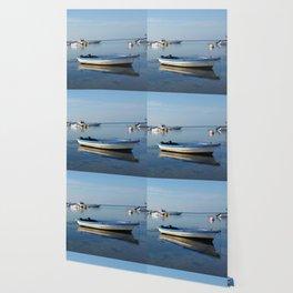 Reflecting Boats Wallpaper
