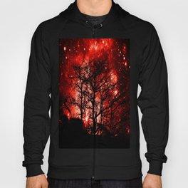 black trees red space Hoody