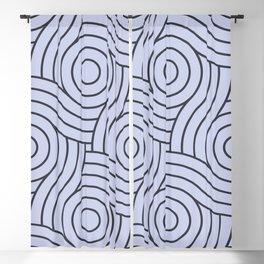 Circle Swirl Pattern Valspar America Illuminated Violet - Twilight Mist - Carousel Purple Blackout Curtain