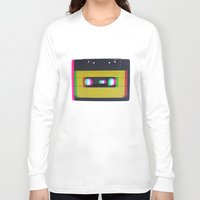 cassette Long Sleeve T-shirts featuring Cassette by Michal
