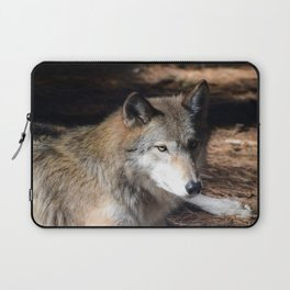 The Eyes of a Wolf Laptop Sleeve