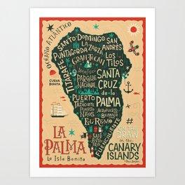La Palma - Map Art Print