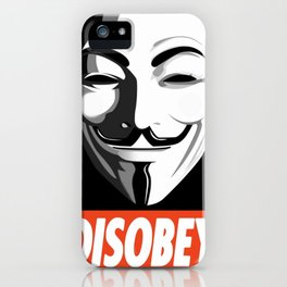 Guy Fawkes - Disobey iPhone Case