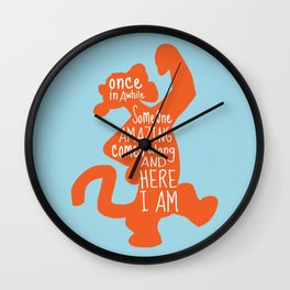 Once in awhile Someone Amazing comes along and Here I Am - Winnie the Pooh inspired Print Wall Clock