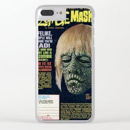 Zombie Mask Clear iPhone Case