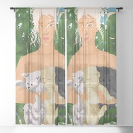 Morocco Vacay #illustration #painting Sheer Curtain