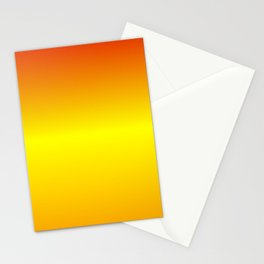 Horizontal Red, Yellow and Orange Gradient Stationery Cards