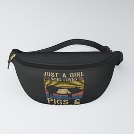 Just A Girl Who Loves Pigs And Camping Fanny Pack