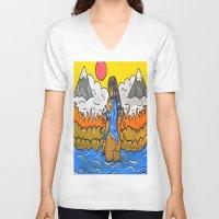 korra V-neck T-shirts featuring Korra by TheArtGoon