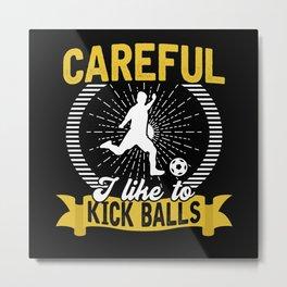 Football Game Ball Gift Metal Print