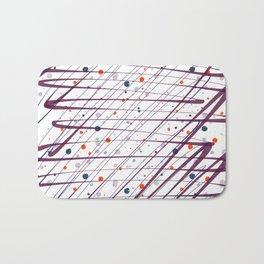 Maroon Splatter Pattern Bath Mat
