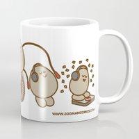 workout Mugs featuring Eggman Comics - Workout by Eggman Comics