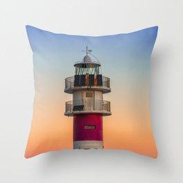 Faro de Cabo Ortegal Throw Pillow