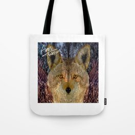Long Night Coyote Tote Bag