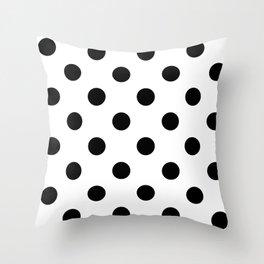 Polkadot (Black & White Pattern) Throw Pillow