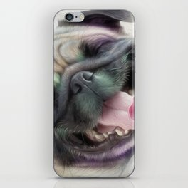 Happy Puggy iPhone Skin