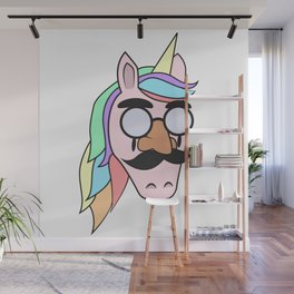 Unicorn Mask People Glasses Beard halloween Dress Up Carnival Kids Gift Idea Wall Mural
