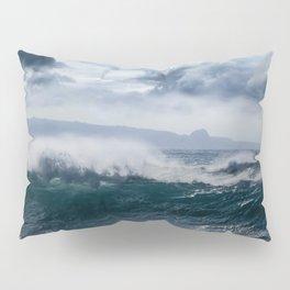 He inoa wehi no Hookipa  Pacific Ocean Stormy Sea Pillow Sham