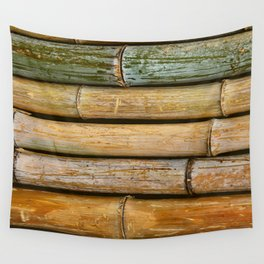 Weathered Bamboo Wall Tapestry