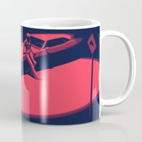 picard Mugs featuring Peachy by Anton Marrast