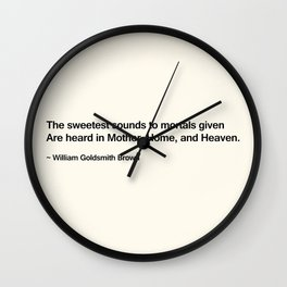 Mothers Day II Wall Clock