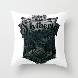 Slytherin House Badge Throw Pillow