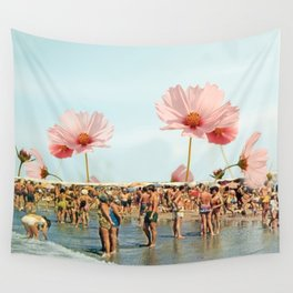Vintage Flower Beach Wall Tapestry